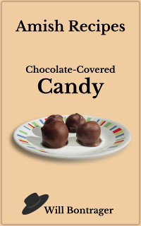 Amish recipe chocolate-covered candy on a plate. Yummy!